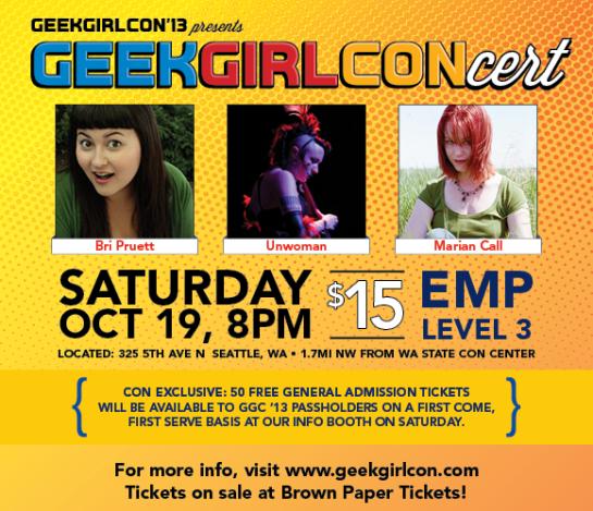 Geek Girl Concert 2013